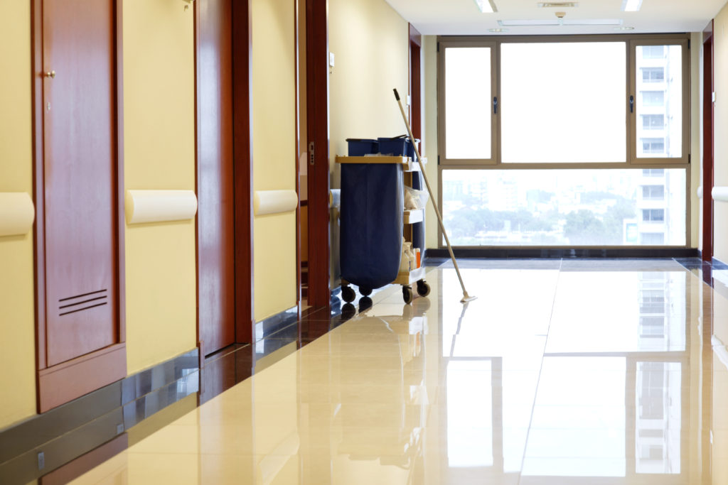 Interior of empty corridor of hospital; Shutterstock ID 80006374; PO: N/A
